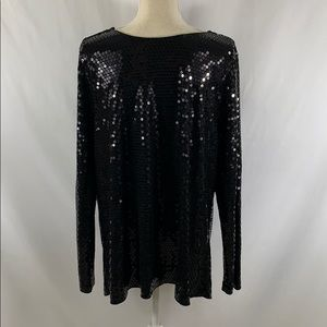 Michael Kors Tops - Michael Kors plus size black sequin tunic